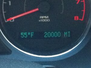 my odometer at 20,000 miles