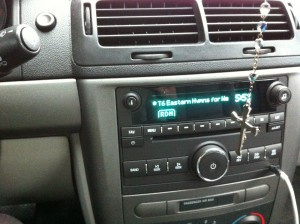 my car displaying the EP title