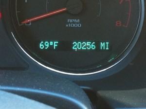 my odometer at 20,256 miles