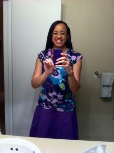 me in my super cute purple outfit