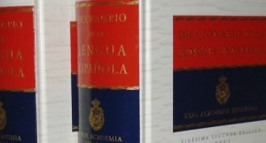 two volumes of the Diccionario de la Real Academía Española