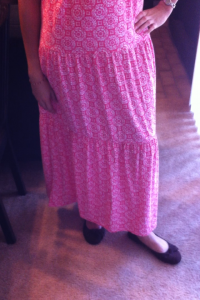 This is the full length of the dress and my Payless shoes. I swear I don't actually wear the same shoes every week!