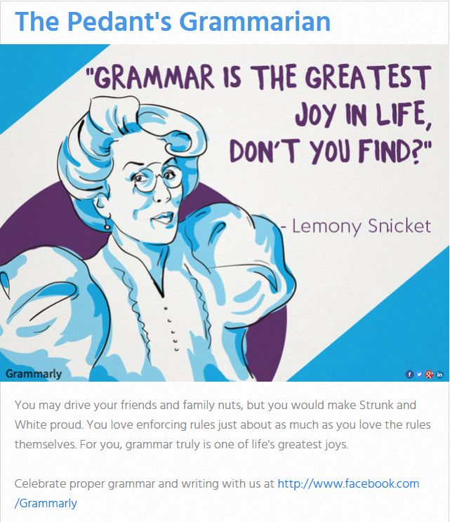 The Pedant's Grammarian
