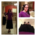What I Wore Sunday: Purple, but Not Winter