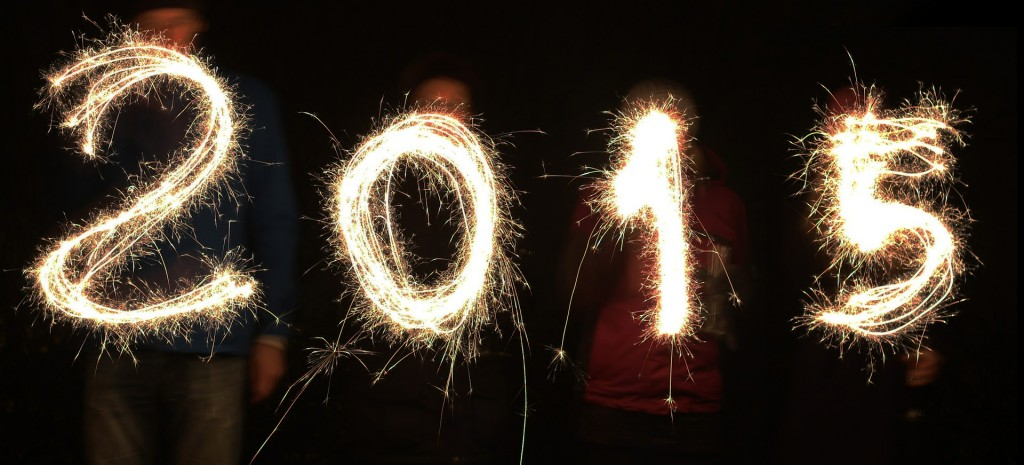 2015 written with sparklers