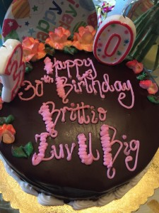 Britt's 30th Birthday Cake