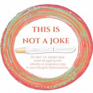 """A pregnancy announcement is not a joke."""