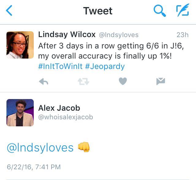 Alex Jacob fist bump