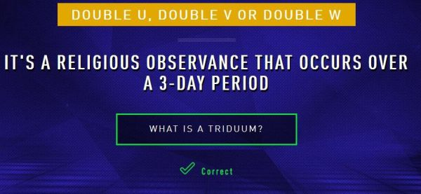 It's a religious observance that occurs over a 3-day period. What is a triduum?
