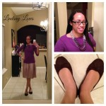 What I Wore Sunday: It's Purple Today, Not Red