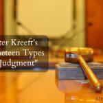 "Peter Kreeft's ""Nineteen Types of Judgment"": An Outline"